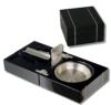 Design-Zigarrenascher-Cutter-Bohrer klappbar Pianolack inkl. Lifestyle-Ambiente Tastingbogen -