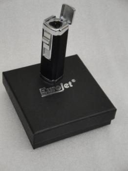Eurojet 3-fach Zigarrenbrenner Zigarrenfeuerzeug Feuerzeug mit Rundbohrer -