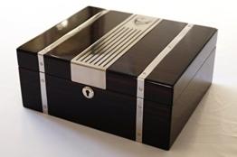 """GERMANUS Zigarren Humidor """"Cowling"""" mit Digital Hygrometer und GERMANUS Kristall Befeuchter -"""
