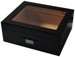 GERMANUS Zigarren Humidor Desk Black für ca. 50 Zigarren, schwarz -