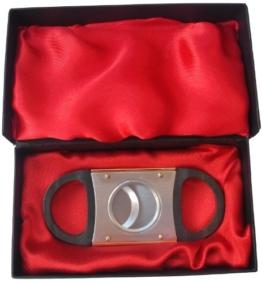 Guillotine Zigarrenabschneider-Gold Barrel Farbe in Geschenk-Box -