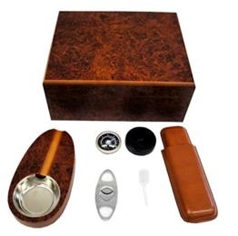 Humidor Set Zigarrenschneider Zigarrenaschenbecher Dosiepipette Zigarrenetui -