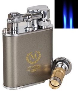 Zigarrenfeuerzeug MYON of Paris Racing Edition Pearl inkl. Zigarrenbohrer mit Schnappmechanik inkl. Lifestyle-Ambiente Tastingbogen -